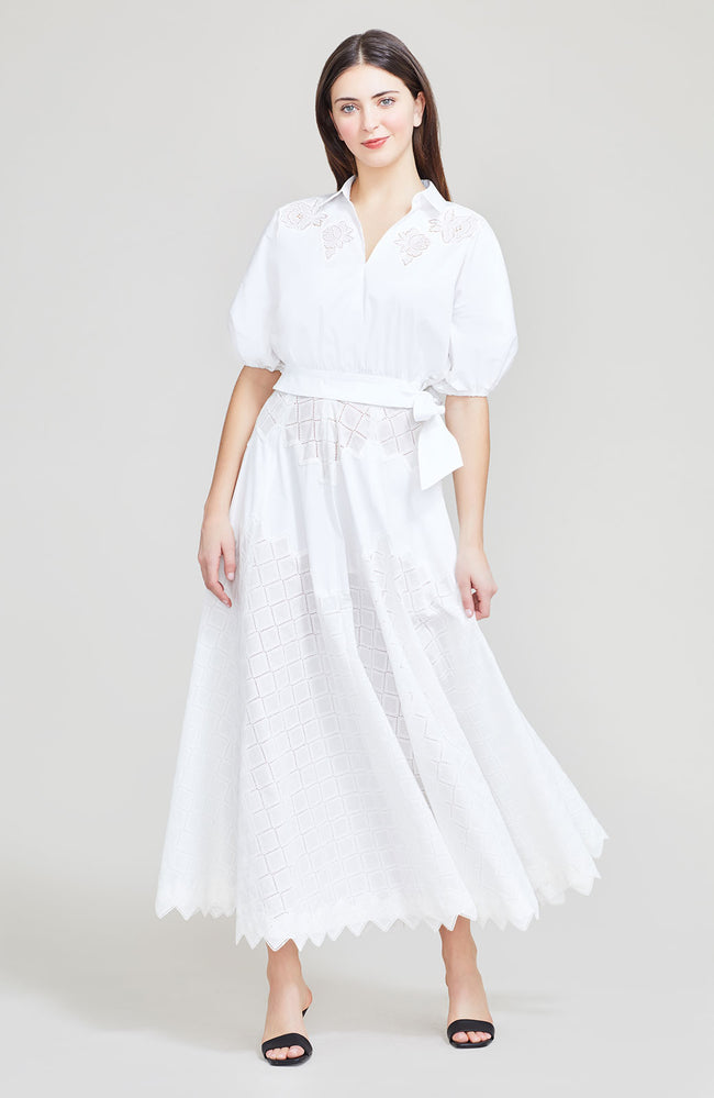 Diamond Eyelet Full Skirt