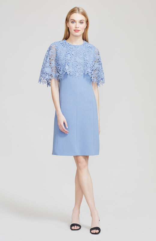 Wildflower Guipure Lace Capelet Tunic Dress
