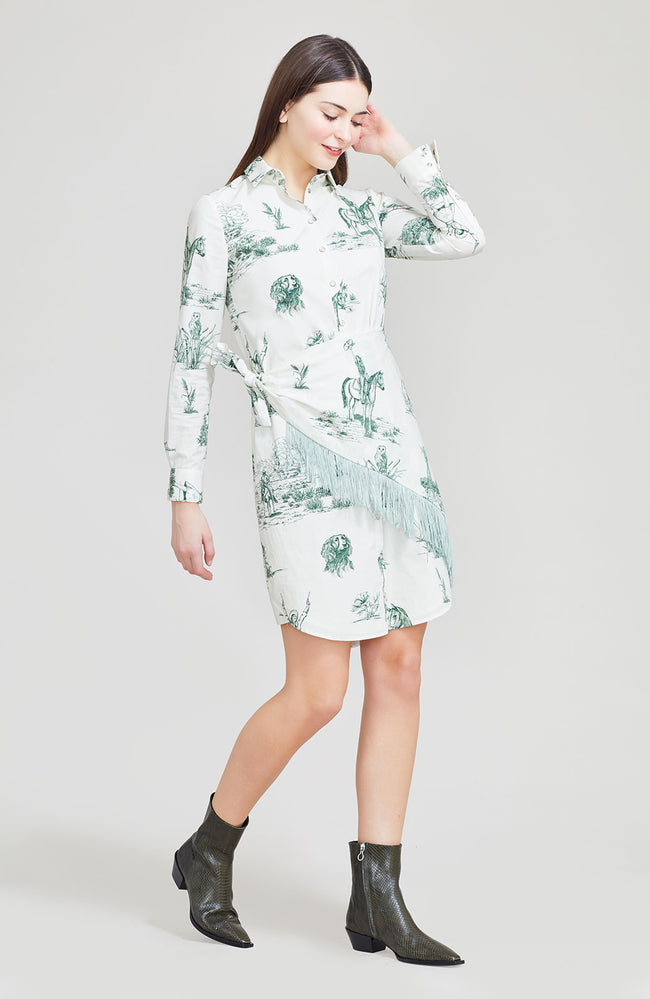 Reyrosa Toile Cotton Handkerchief Shirt Dress