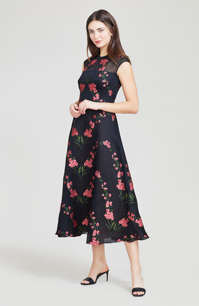 Wildflower Fil Coupe Full Skirt Dress