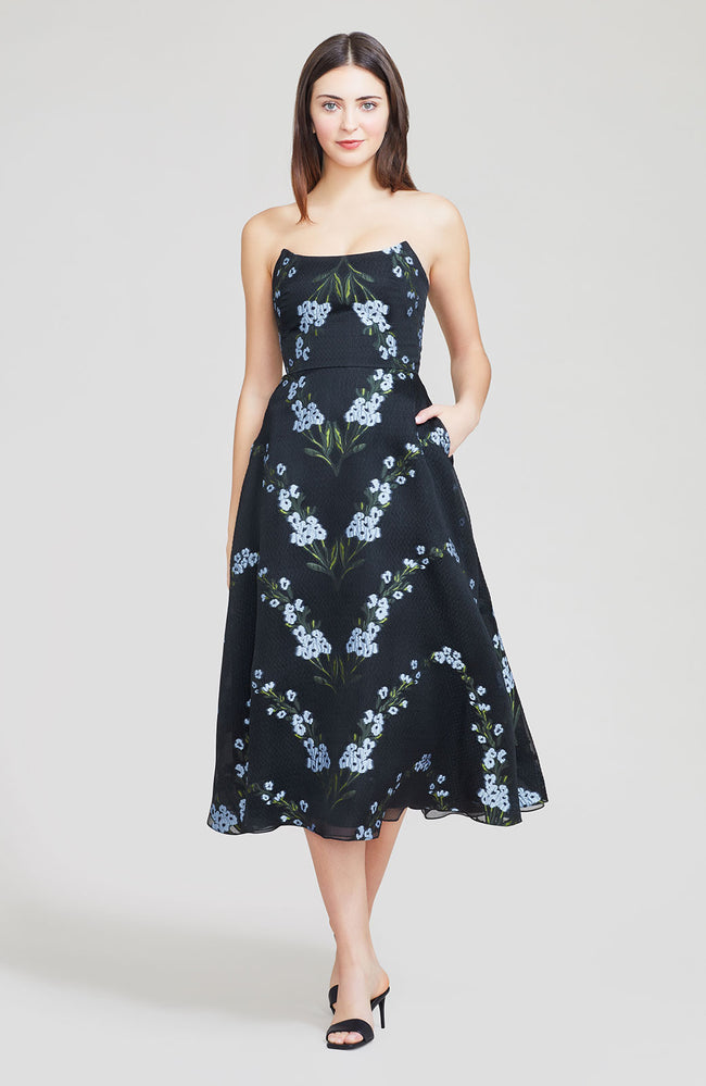 Wildflower Fil Coupe Peaked Bodice Dress