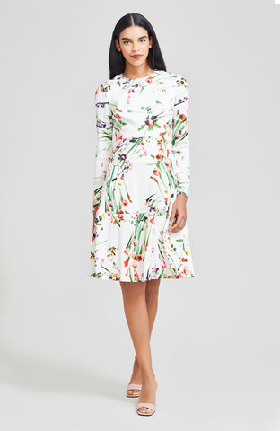 Wildflower Printed Crepe Tiered Dress