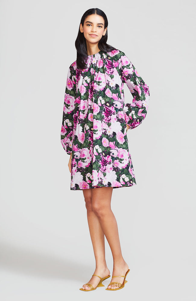 Floral Printed Cotton Tunic Dress