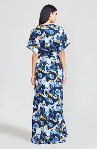 Floral Printed Cotton Belted Caftan