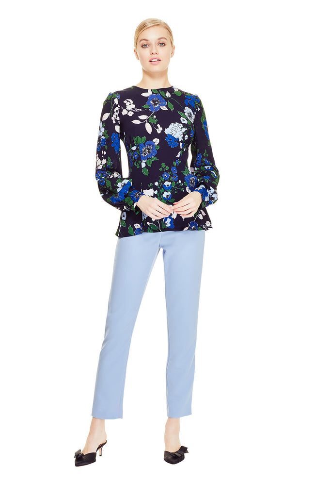 Floral Printed Georgette Full Sleeve Top