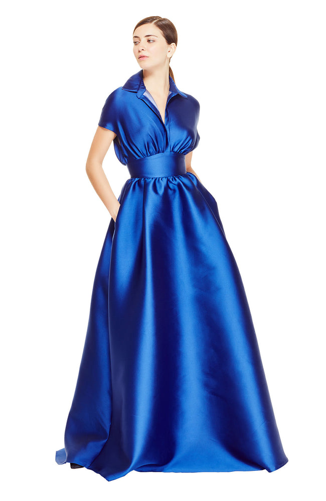 Duchess Satin Full Skirt Gown
