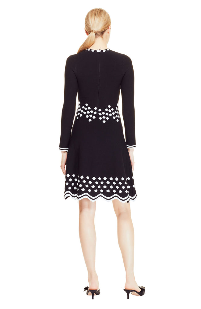 Diamond Jacquard Knit Dress