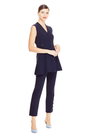Wool Crêpe V-Neck Vest