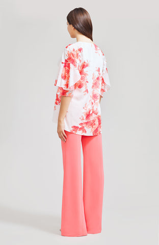 Rose Drawn Voile Full Sleeve Top