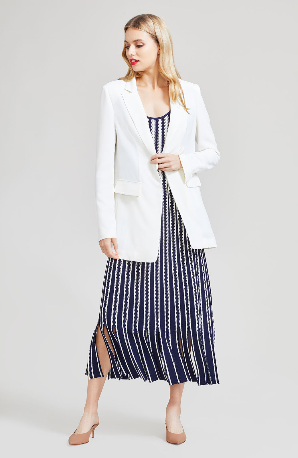 Fluid Crepe Single Breasted Blazer
