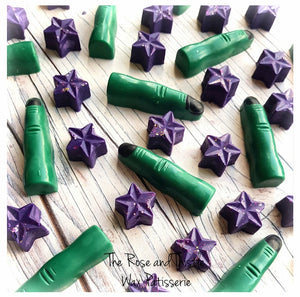 Witches Brew Soy Wax Melt Witches fingers and stars.
