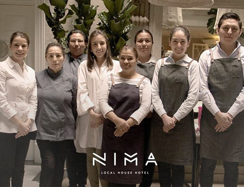 Training in Service of Luxury and Details of Hospitality Consultancy Local NIMA House Hotel. Mexico City. February, 2017