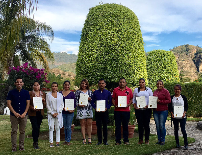 Program of Training for Residences Consultancy Malinalco, the State of Mexico. December, 2016