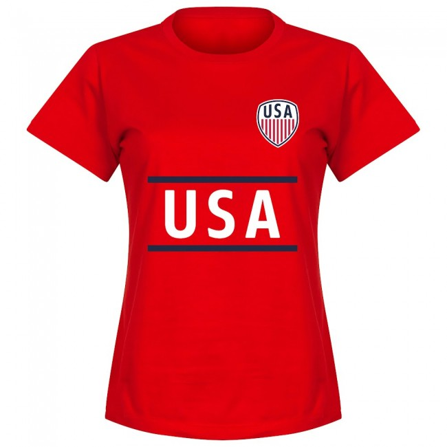 USA Heath 17 Team Womens T-Shirt - Red