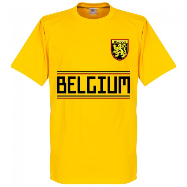 Belgium Mertens 14 Team T-Shirt - Yellow
