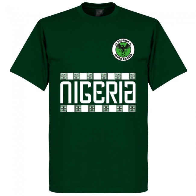 Nigeria Iwobi 18 Team T-Shirt - Bottle Green
