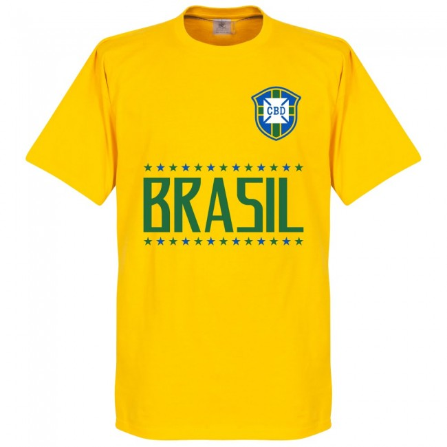 Brazil Zico 10 Gallery Team T-Shirt - Yellow