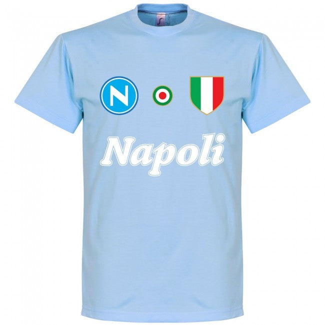 Napoli Careca 9 Team T-Shirt - Sky