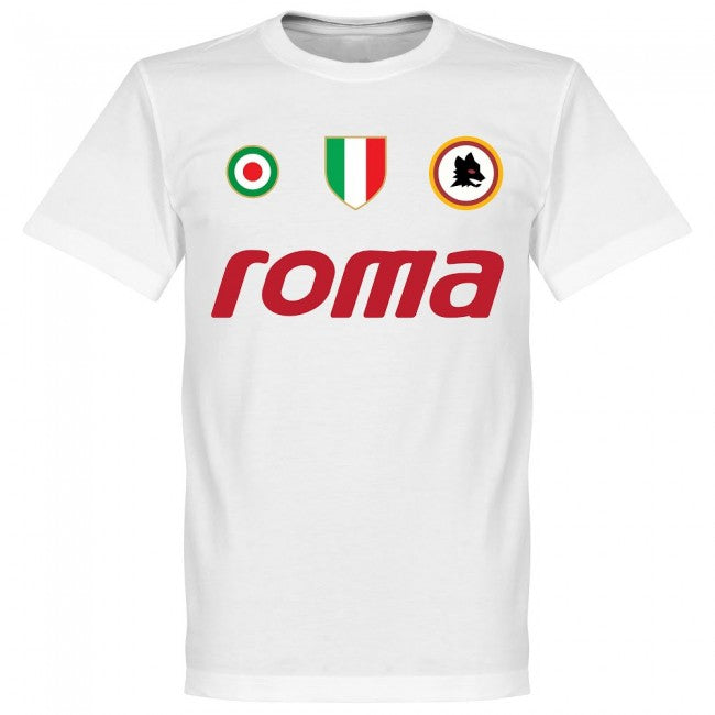 Roma Vintage Falcao 5 Team T-Shirt - White