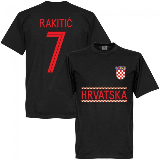 Croatia Rakitic 7 Team T-Shirt - Black