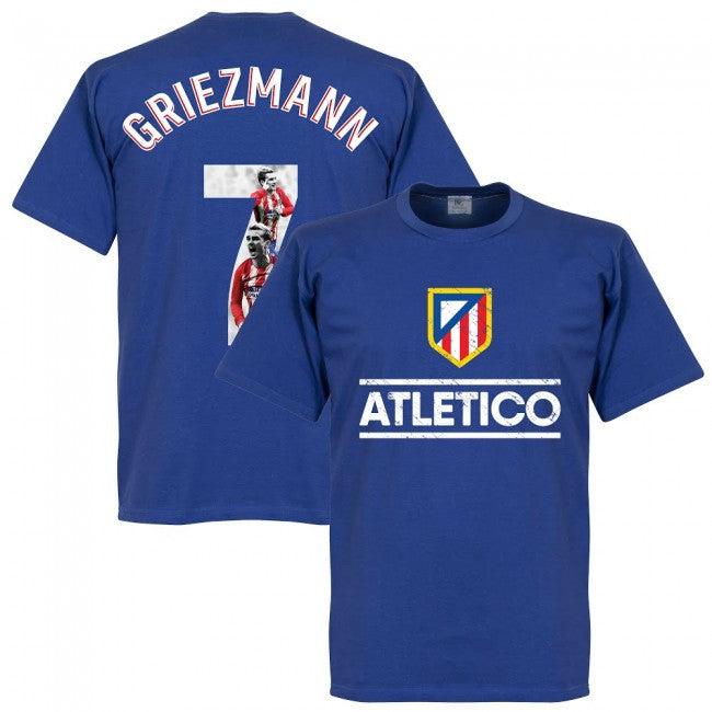 Atletico Madrid Griezmann 7 Gallery Team T-Shirt - Royal