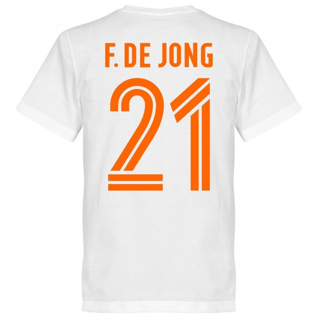 Holland F. De Jong Team T-Shirt - White