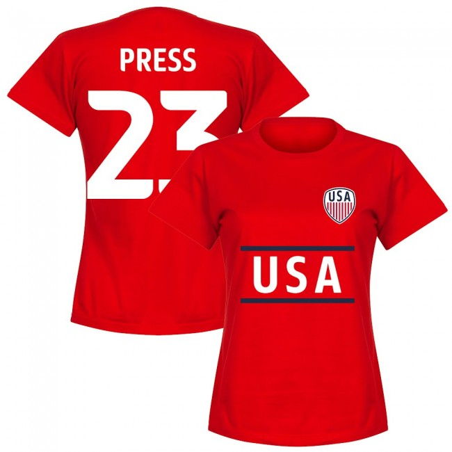 USA Press 23 Team Womens T-Shirt - Red
