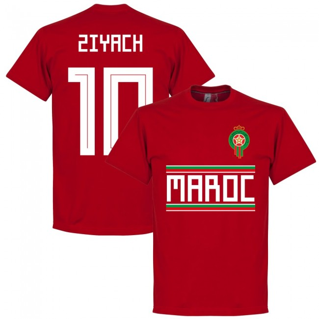 Morocco Ziyach 10 Team T-Shirt - Red