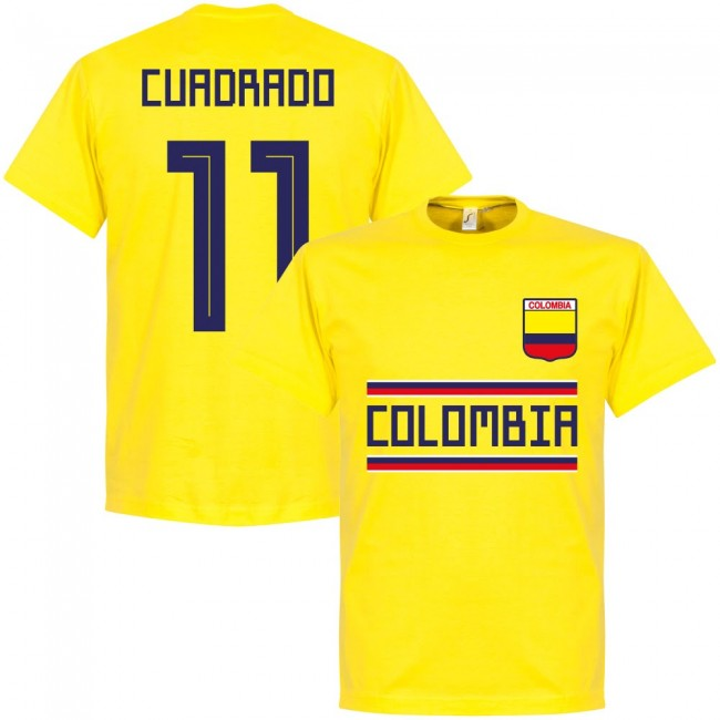 Colombia Cuadrado 11 Team T-shirt - Yellow