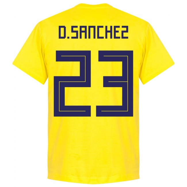 Colombia D. Sanchez 23 Team T-Shirt - Yellow