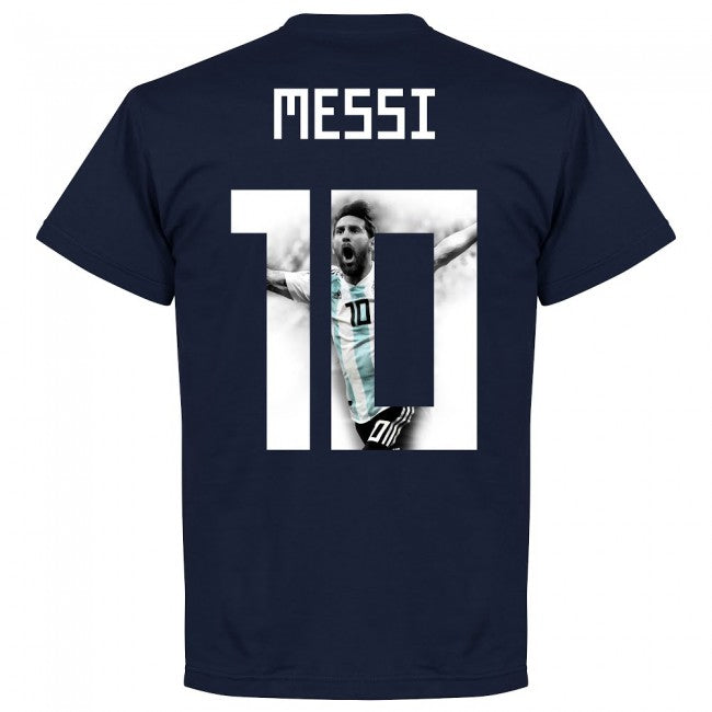 Argentina Messi 10 Gallery Team T-Shirt - Navy