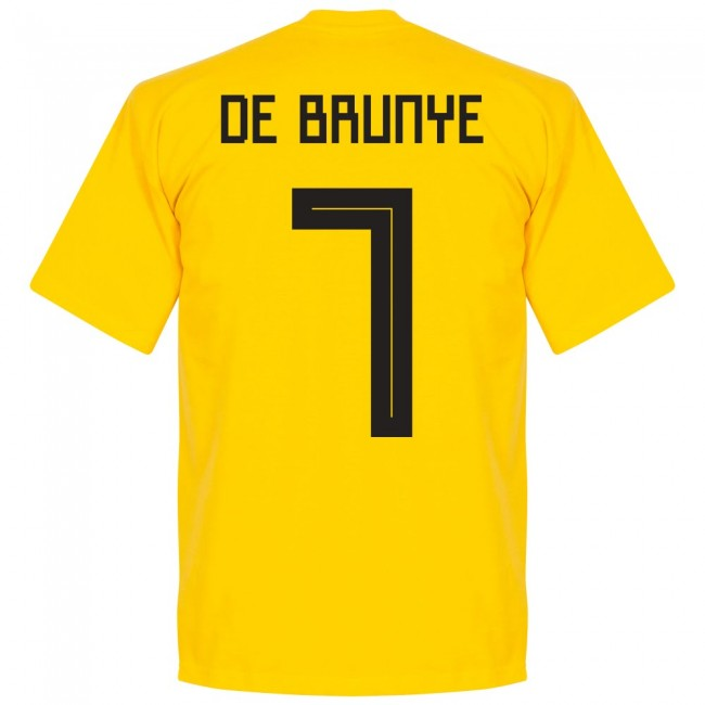 Belgium De Bruyne 7 Team T-Shirt - Yellow