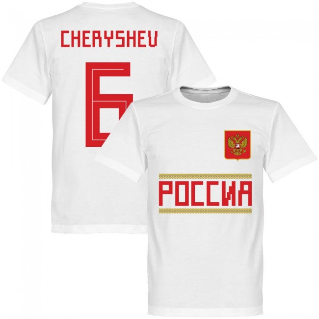 Russia Cheryshev 6 Team T-Shirt - White