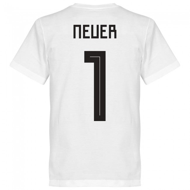 Germany Neuer 1 Team T-Shirt - White
