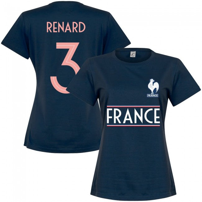 France Team Womens Renard 3 T-shirt - Navy