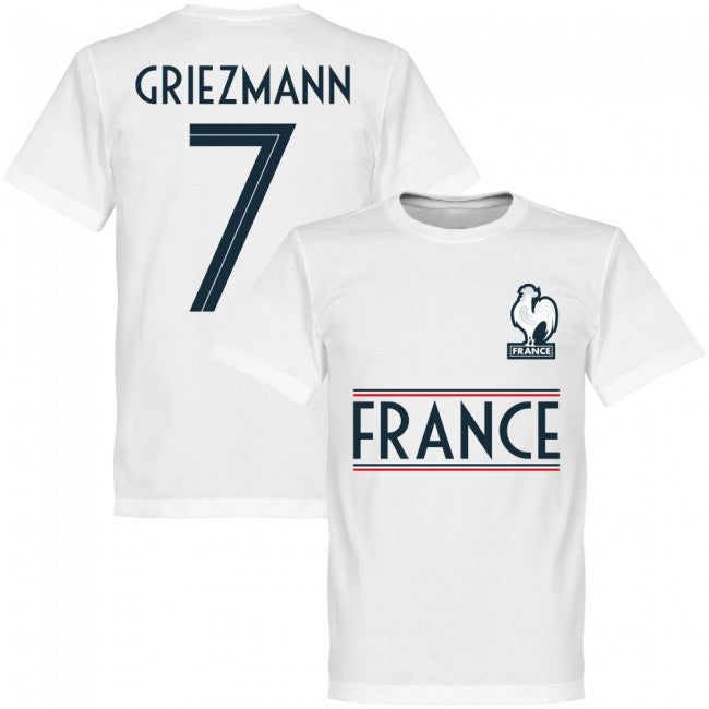 France Griezmann 7 Team T-Shirt - White