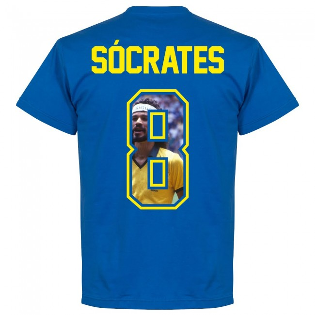Brazil Socrates 8 Gallery Team T-Shirt - Royal