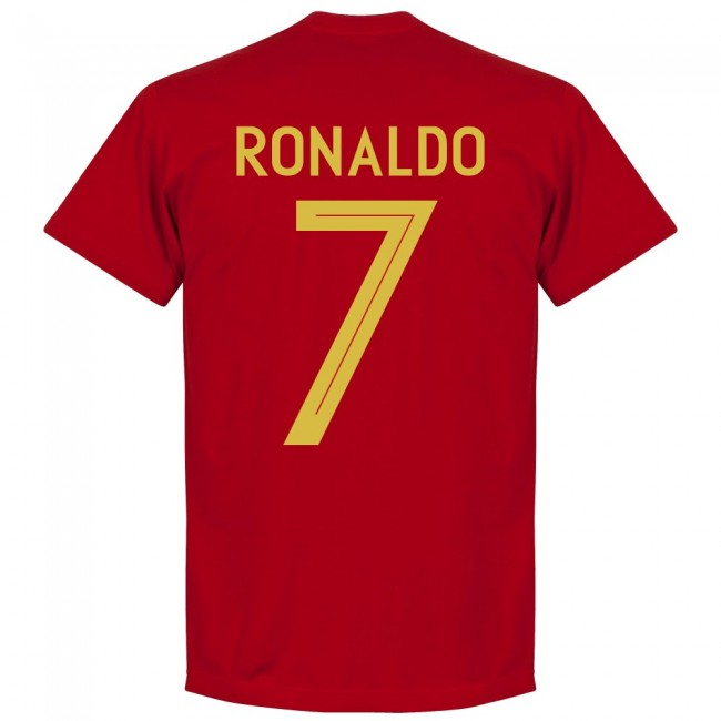 Portugal Ronaldo 7 Team T-Shirt - Red