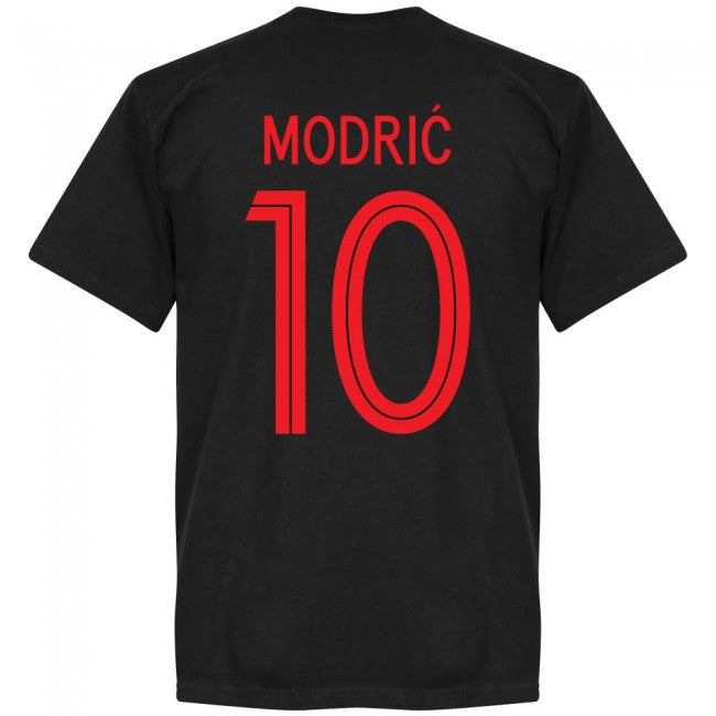 Croatia Modric 10 Team T-Shirt - Black