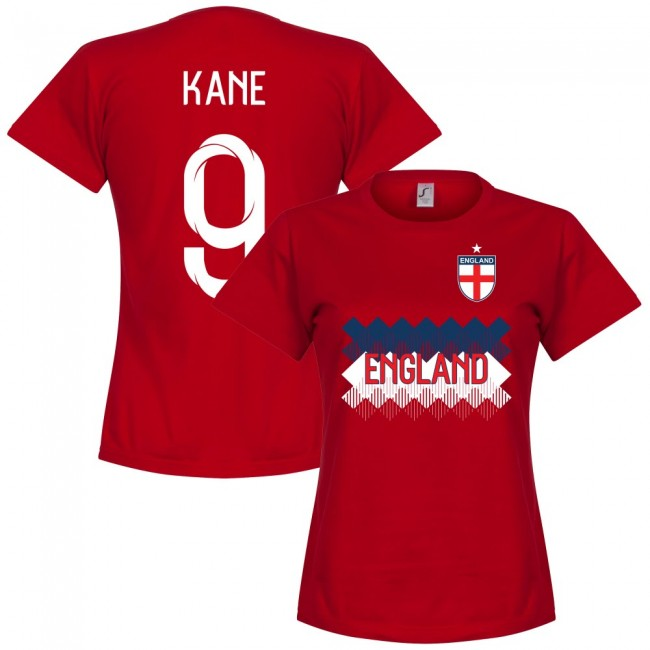 England Kane 9 Team Womens T-Shirt - Red
