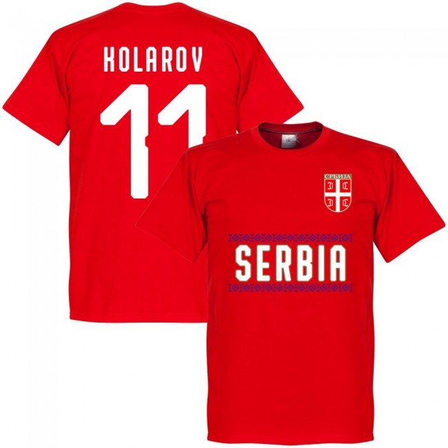 Serbia Kolarov 11 Team T-Shirt - Red