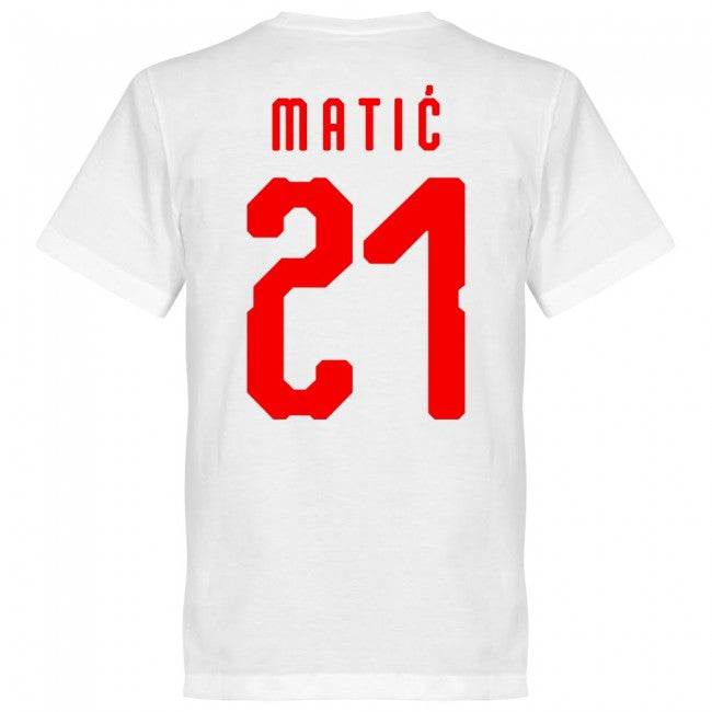 Serbia Matic 21 Team T-Shirt - White