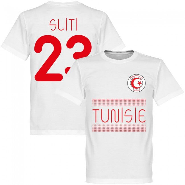 Tunisia Sliti 23 Team T-Shirt - White