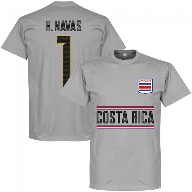 Costa Rica H. Navas 1 Team GK T-Shirt - Grey