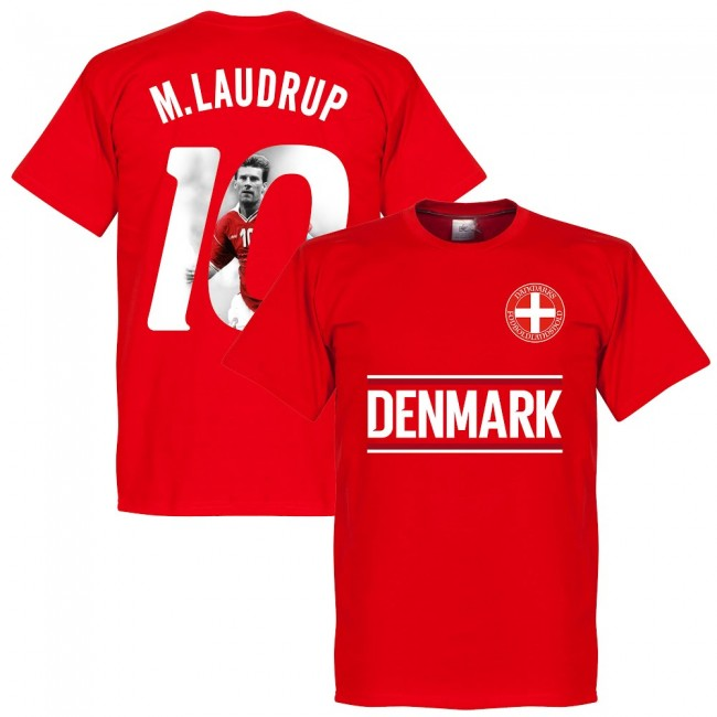 Denmark M. Laudrup 10 Gallery Team T-Shirt - Red