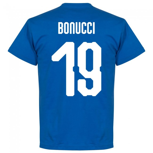 Italy Bonucci 19 Team T-Shirt - Royal