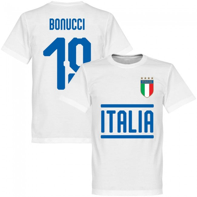 Italy Bonucci 19 Team T-Shirt - White