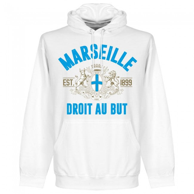 Marseille Established Kids Hoodie - White - Terrace Gear