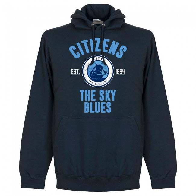 Man City Established Hoodie -Navy - Terrace Gear