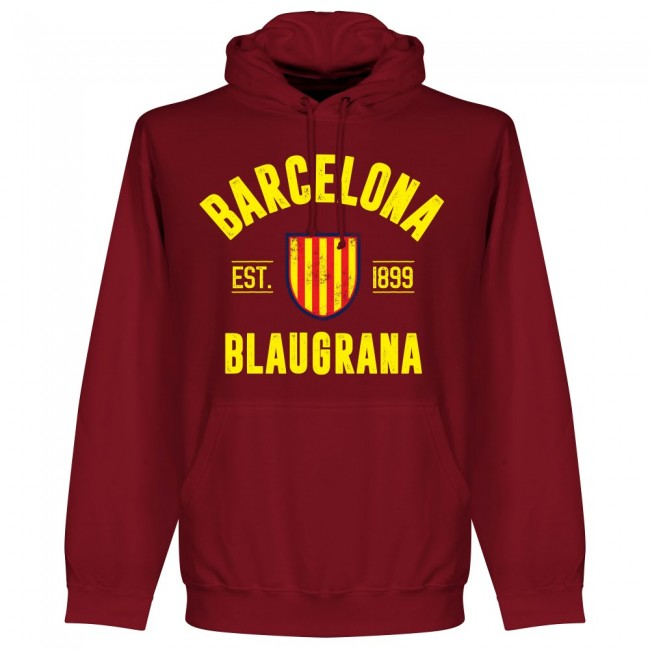 Barcelona Established Hoodie - Maroon - Terrace Gear